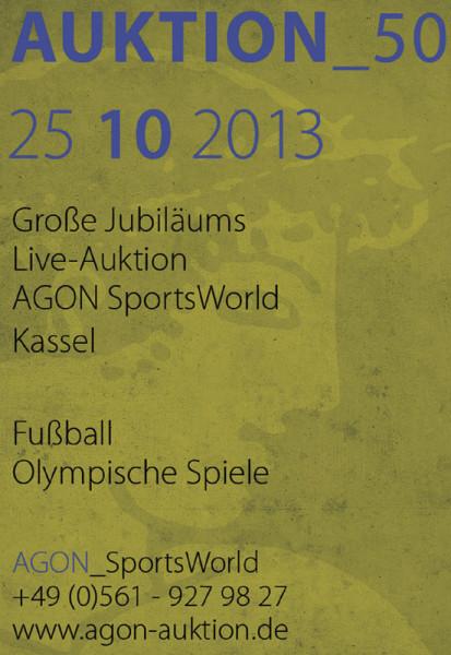 50. AGON Auktion: Auktions-Katalog: SportMemorabilia Live Kassel