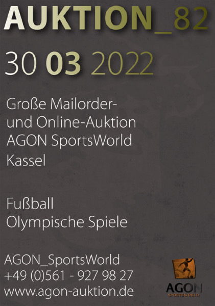 82. AGON Auktion: Auktions-Katalog: SportMemorabilia Live in Kassel