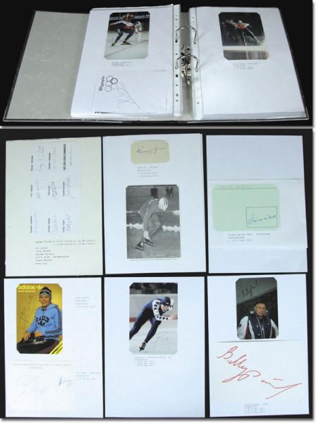 Eisschnelllaufen 1952 - 2006: 139 original Signaturen von Medaillengewinnern