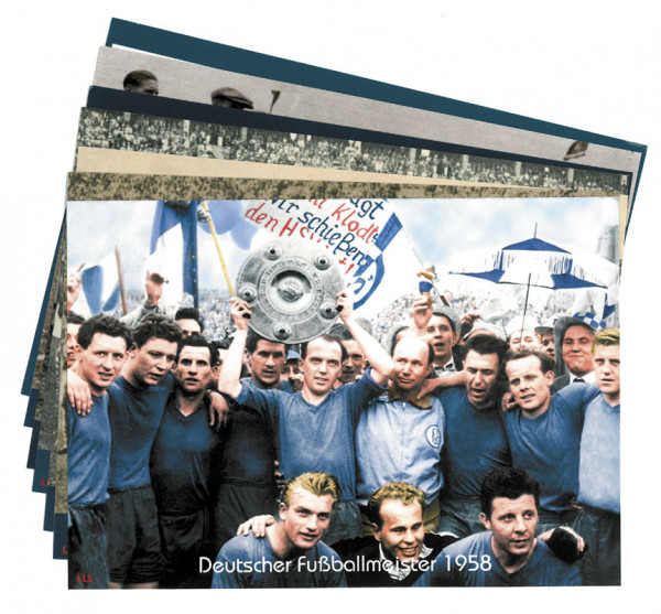 German Football Champions Schalke 04 from 1937 to 1958 AGON Big Cards