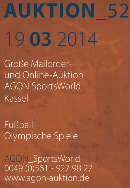 52. AGON Auktion: Auktions-Katalog: SportMemorabilia OnLive in Kassel