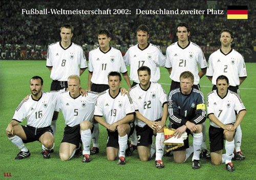 Germany 2nd Place World Cup 2002