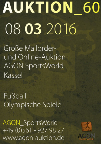 60. AGON Auktion: Auktions-Katalog: SportMemorabilia OnLive in Kassel