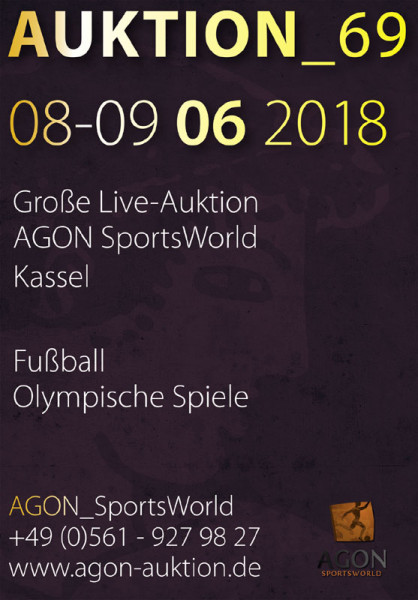 69. AGON Auktion: Auktions-Katalog: SportMemorabilia Live in Kassel