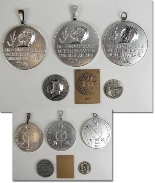German Fencing Championships 1974 - 1978 Medals
