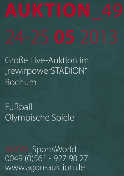 49. AGON Auktion: Auktions-Katalog: SportMemorabilia Live in Bochum