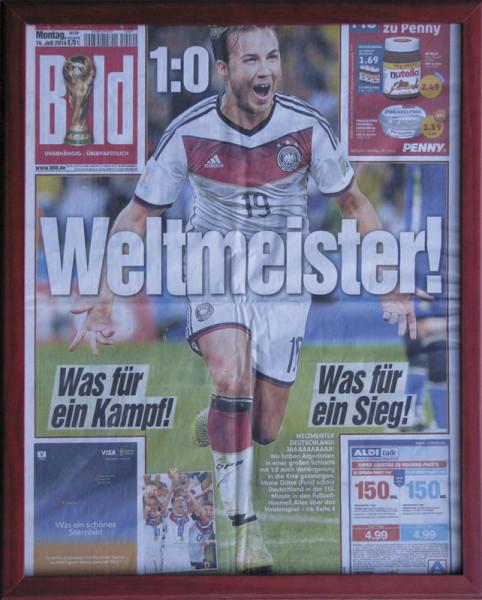 1:0 Weltmeister, Zeitung WM2014