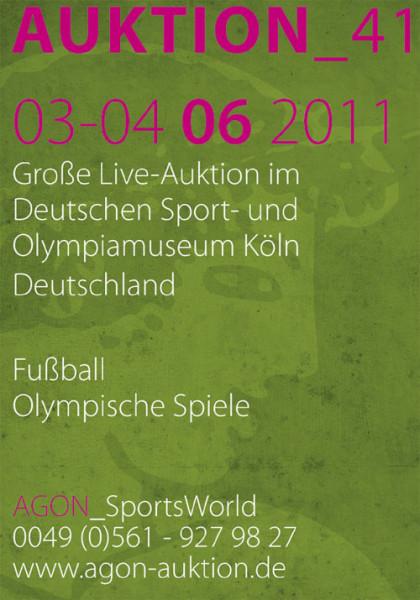 41. AGON Auktion: Auktions-Katalog: SportMemorabilia Live Köln