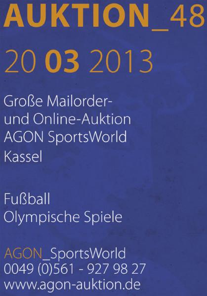 48. AGON Auktion: Auktions-Katalog: SportMemorabilia OnLive in Kassel