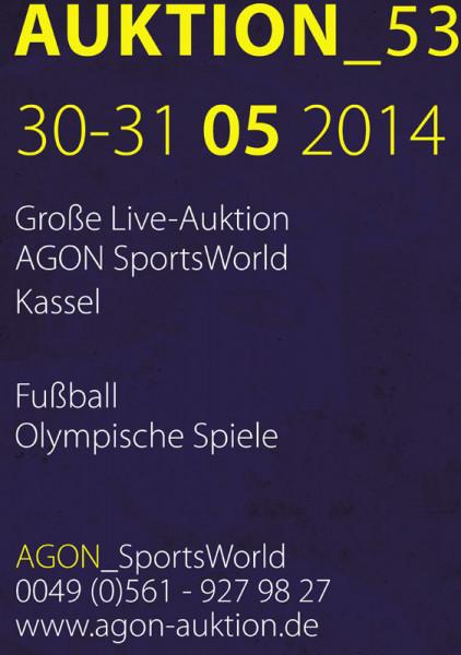 53. AGON Auktion: Auktions-Katalog: SportMemorabilia Live in Kassel