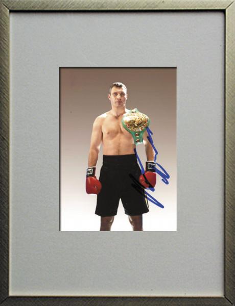 Klitschko, Vitali: Original Autograph im Rahmen