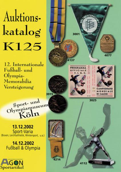 12. AGON Auktion: Auktions-Katalog: SportMemorabilia Köln