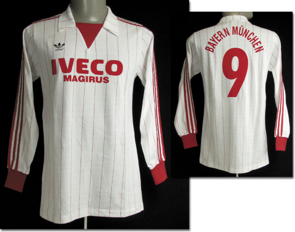 match worn football shirt Bayern Munich 1980s