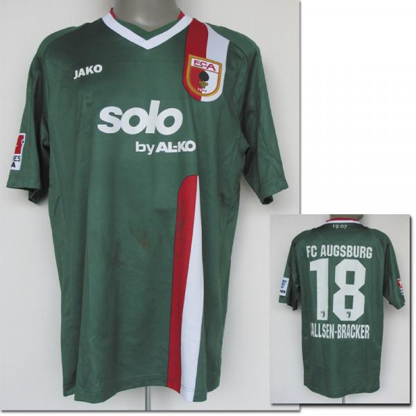 match worn football shirt FC Augsburg 2013/14