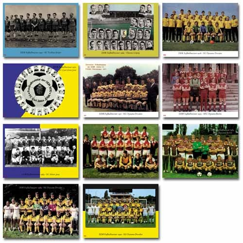 DDR Fußballmeister BigCard Nr. 001-011