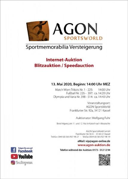 1. AGON Internet-Auktions-Liste: SportMemorabilia Live im Internet
