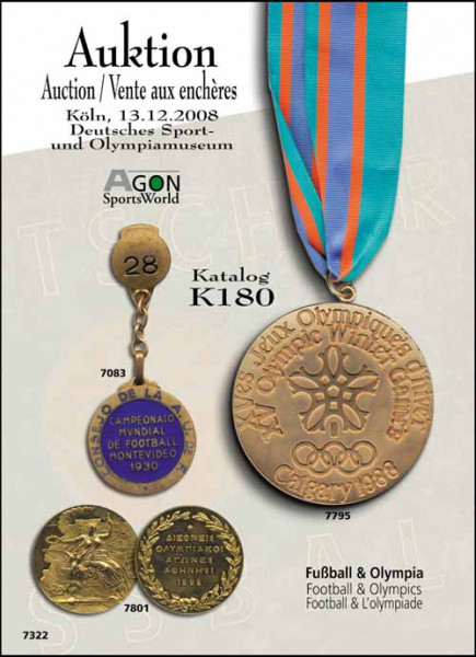 34. AGON Auktion: Auktions-Katalog: SportMemorabilia Live Köln