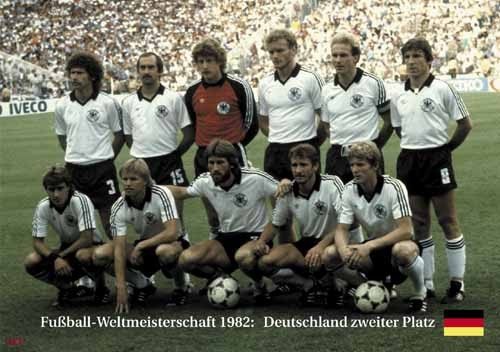 Germany 2nd place World Cup 1982