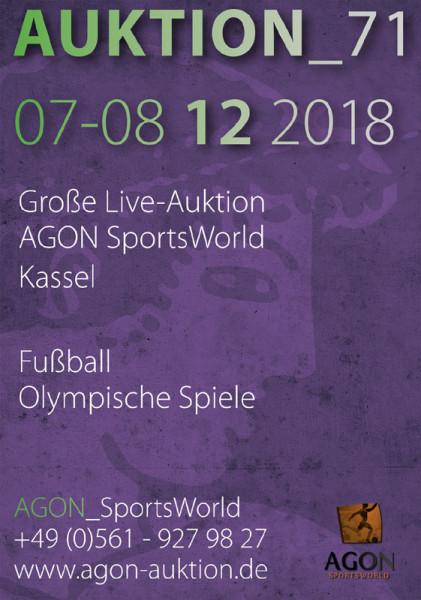 71. AGON Auktion.: Auktions-Katalog: SportMemorabilia Live in Kassel