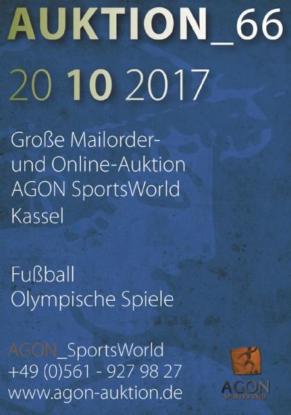66. AGON Auktion: Auktions-Katalog: SportMemorabilia Live in Kassel