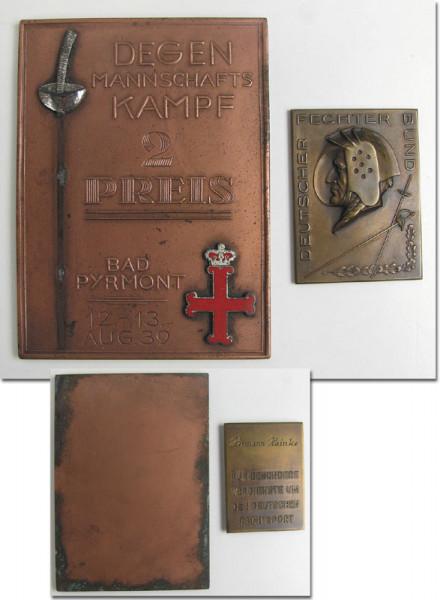 Sammlung von original Siegermedaillen von den deut, Fechten-Segermedaillen