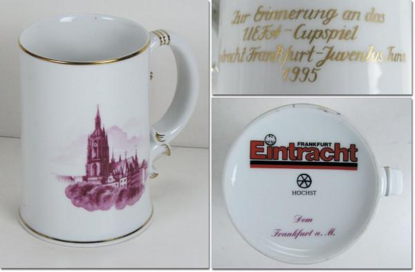 Porcelain Cup UEFA Cup 1995 Juventus v Frankfurt