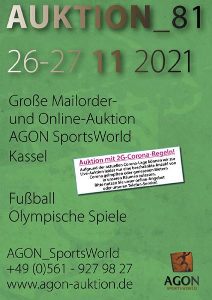 81. AGON Auktion: Auktions-Katalog: SportMemorabilia Live in Kassel