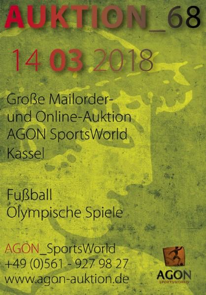 68. AGON Auktion.: Auktions-Katalog: SportMemorabilia OnLive in Kassel