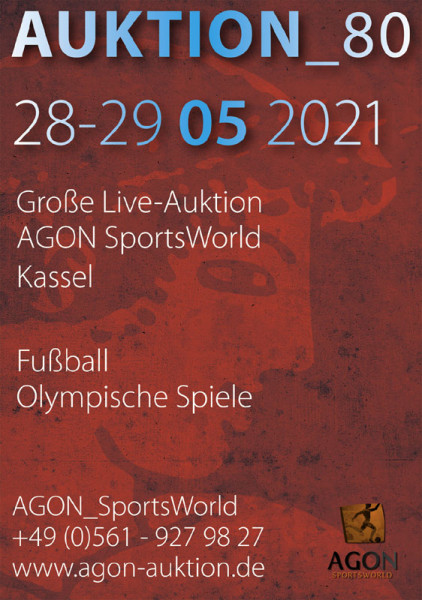 80. AGON Auktion: Auktions-Katalog: SportMemorabilia Live in Kassel