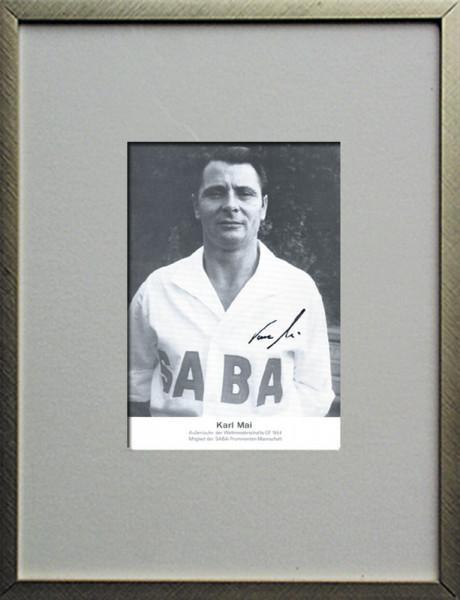 Mai, Karl: Original Autograph im Rahmen