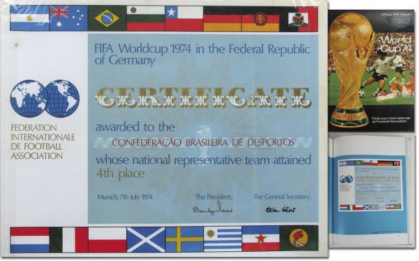 Siegerurkunde der Fußball-WM 1974 für Brasilien, Siegerurkunde WM1974