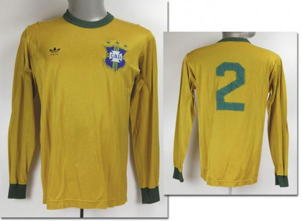 World Cup 1978 match worn football shirt Brazil
