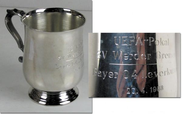 Silvered Cup UEFA Cup 1988 Halffinal Werder Breme