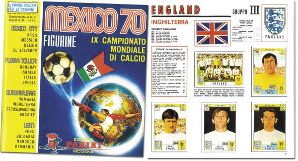 Mexico 70. IX campeonato mundial de futbol mayo 31 - junio 21. Italienische Ausgabe. Reprint mit ein