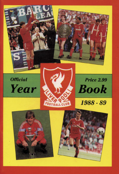 Liverpool - Official Year Book 1988-89.