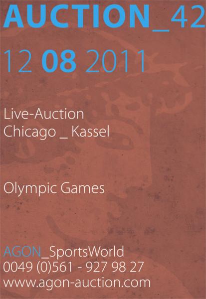 42. AGON Auktion: Auktions-Katalog: SportMemorabilia Live Ch-K