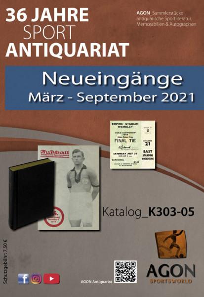 Sammlerstücke: Antiquariatskatalog Neueingänge Herbst 2021