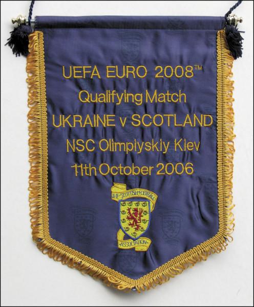 "Spielwimpel ""EM-Quali. Ukraine v Scotland 2008"", Schottland-Wimpel 2008"