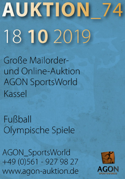 74. AGON Auktion: Auktions-Katalog: SportMemorabilia Live in Kassel