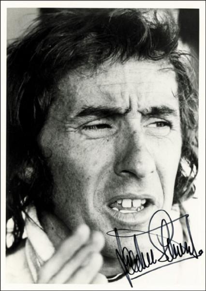 Stewart, Jackie: S/W-Magazinfoto mit Originalsignatur