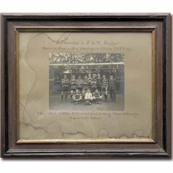 FSV Frankfurt 1910: B/W-Foto in original Frame.