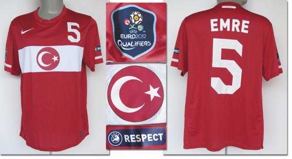 UEFA EURO 2012 match worn football shirt Turkey