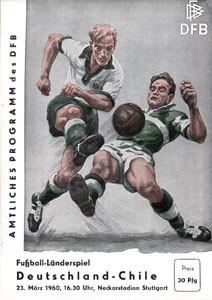 Deutschland - Chile, 23.3.1960, Neckarstadion Stuttgart