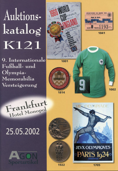 9. AGON Auktion: Auktions-Katalog: SportMemorabilia Frankfurt