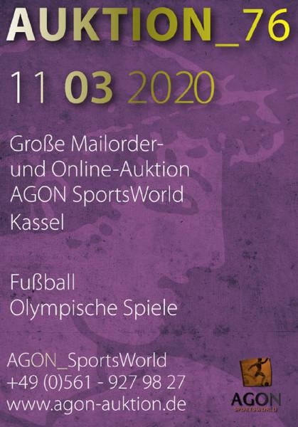 76. AGON Auktion: Auktions-Katalog: SportMemorabilia Live in Kassel