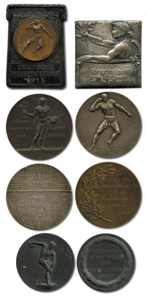 Winner Medals: Shot putt and dicscus: Xaver Geier Olympiad 1924
