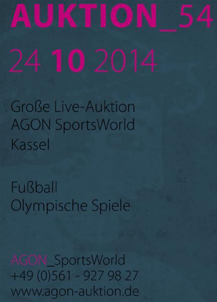 54. AGON Auktion: Auktions-Katalog: SportMemorabilia Live Kassel