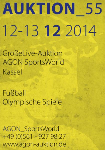 55. AGON Auktion: Auktions-Katalog: SportMemorabilia Live in Kassel