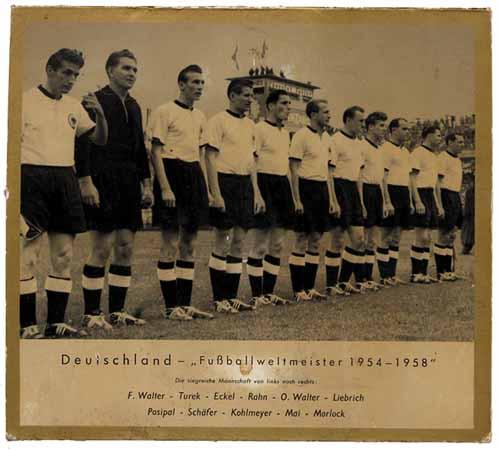 Foto mit Aufhänger, Foto WM 1954