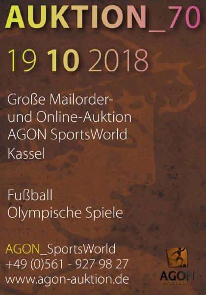 70. AGON Auktion: Auktions-Katalog: SportMemorabilia Live in Kassel